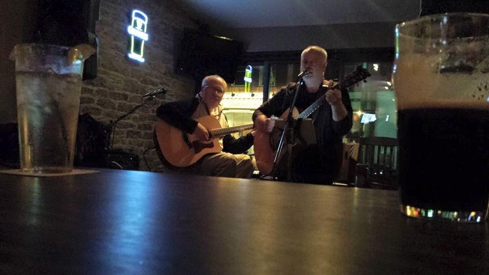 Acoustic set with Cliff Trott at the Loaf and Ale, Napanee